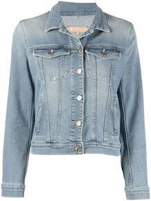 приталенная джинсовая куртка 7 for all mankind 161862918883