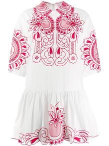 платье с цветочной вышивкой и рукавами три четверти RED VALENTINO 152337585248