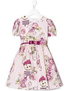 платье с принтом Monnalisa 1552213056