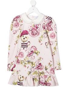 платье с оборками и цветочным принтом Monnalisa 156942244949