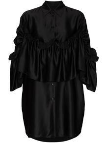 платье-рубашка оверсайз с оборками MM6 Maison Margiela 157677885250