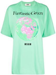 футболка Fantastic Green MSGM 1632727783