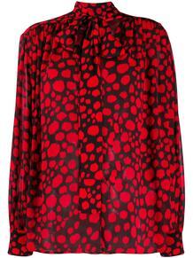 блузка с абстрактным принтом и бантом MSGM 157760715252