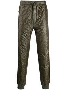зауженные брюки с жатым эффектом MONCLER 145905675348