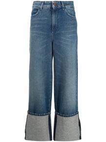 широкие джинсы с подворотами Alysi 158745575057