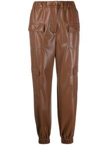 брюки с карманами и завышенной талией MSGM 156397905248