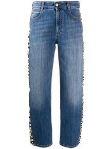 укороченные джинсы с логотипом на лампасах Stella Mccartney 147342335054
