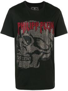 футболка с круглым вырезом и логотипом PHILIPP PLEIN 13461507888876