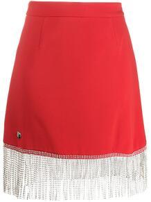 декорированная юбка с бахромой PHILIPP PLEIN 1554128476