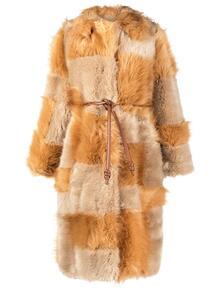 шуба Adrienne Fur Free Fur в технике пэчворк Stella Mccartney 156370435154