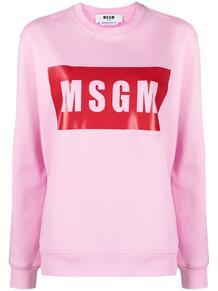 толстовка с круглым вырезом и логотипом MSGM 16154785888883