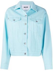 джинсовая куртка на пуговицах с логотипом MSGM 161549155252