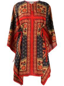 кафтан асимметричного кроя с принтом Gucci 155559465248