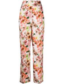 расклешенные брюки с цветочным принтом Patrizia Pepe 160757665250