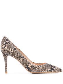 туфли-лодочки с тиснением под кожу змеи Gianvito Rossi 156071705155