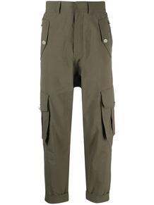 укороченные брюки карго BALMAIN 163669185352
