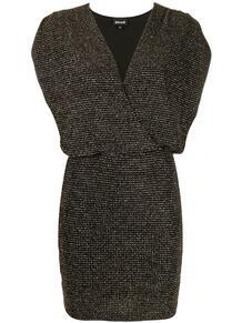 платье мини с блестками и сборками на плечах Just Cavalli 147813845254