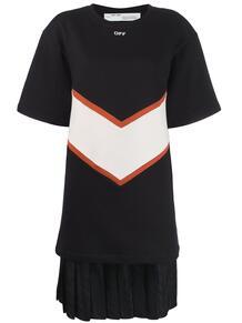 платье-футболка с контрастными вставками OFF-WHITE 142384895156