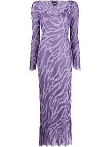 длинное платье с абстрактным узором Just Cavalli 1478137377