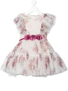 платье с цветочным принтом и оборками Monnalisa 1574185253