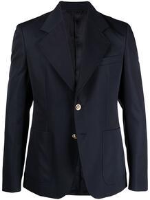 однобортный пиджак с заостренными лацканами Versace 162575815356