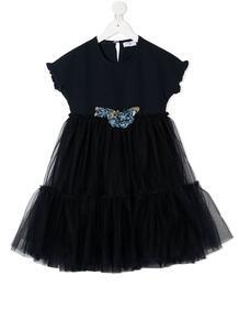 платье с оборками из тюля Monnalisa 1554463853