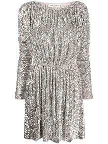 платье с пайетками Yves Saint Laurent 1565900877