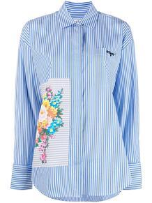 рубашка в полоску с цветочным принтом MSGM 161533895254