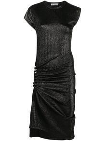 драпированное платье с люрексом Paco Rabanne 162657785248