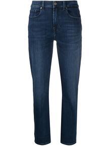 узкие джинсы средней посадки 7 for all mankind 162853285055