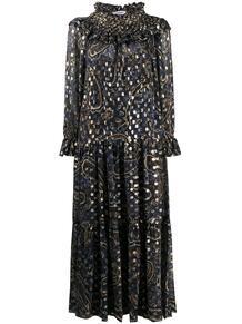 платье макси Seth с принтом пейсли P.A.R.O.S.H. 1568160576