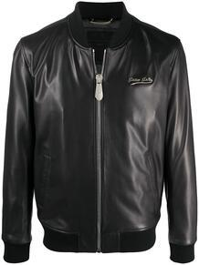 стеганая байкерская куртка с логотипом PHILIPP PLEIN 1621575977