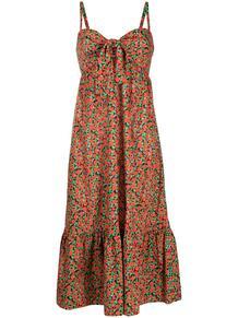 платье с оборками и абстрактным принтом L'Autre Chose 163654675156