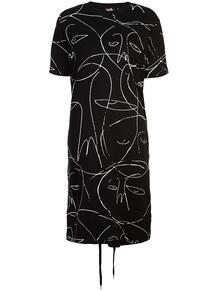 платье-рубашка с принтом со шнуровкой HACULLA 129080918883