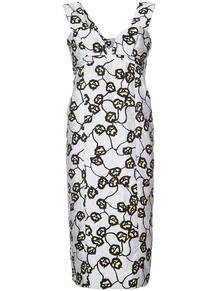 узкое платье с V-образным вырезом Marni 123358605250