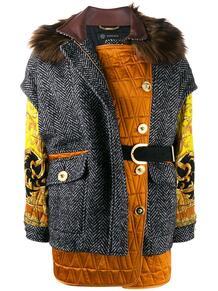 куртка оверсайз в технике пэчворк Versace 145876605156