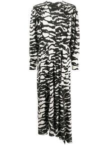 платье макси с V-образным вырезом и змеиным принтом Isabel Marant 149209605154