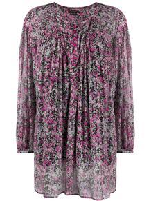платье с цветочным принтом и длинными рукавами Isabel Marant 151861455250