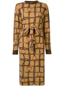 платье с принтом и поясом Céline Pre-Owned 142223245156