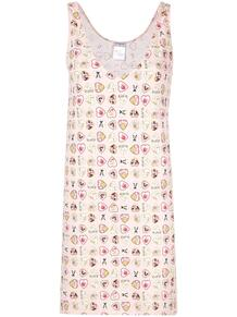 платье с принтом с сердцами Chanel Pre-Owned 136135195154