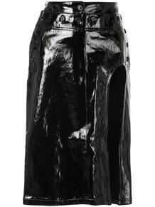 юбка миди с высоким разрезом Ann Demeulemeester 153705235154