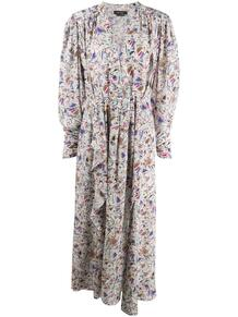 платье с геометричным принтом и оборками Isabel Marant 155290015152