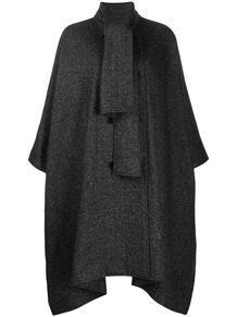 пальто оверсайз с узором и воротником-шалькой MSGM 160057895248