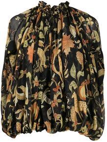 блузка Animals с принтом Lanvin 160227645152