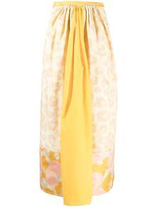 юбка с леопардовым принтом и вставками Marni 163676205252