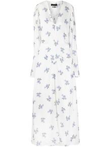 платье с V-образным вырезом и цветочным принтом Isabel Marant 163362545248