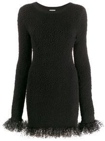 платье мини с оборками из тюля Yves Saint Laurent 1445722283