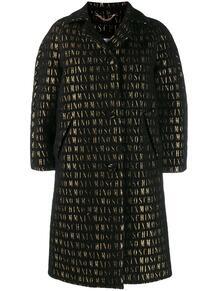 пальто на пуговицах с вышивкой Love Moschino 143669835156