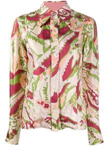 рубашка с заостренным воротником и принтом Victoria Beckham 1495060356