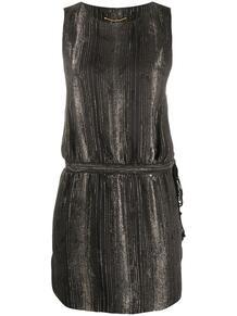 платье мини в полоску Yves Saint Laurent 153121945156
